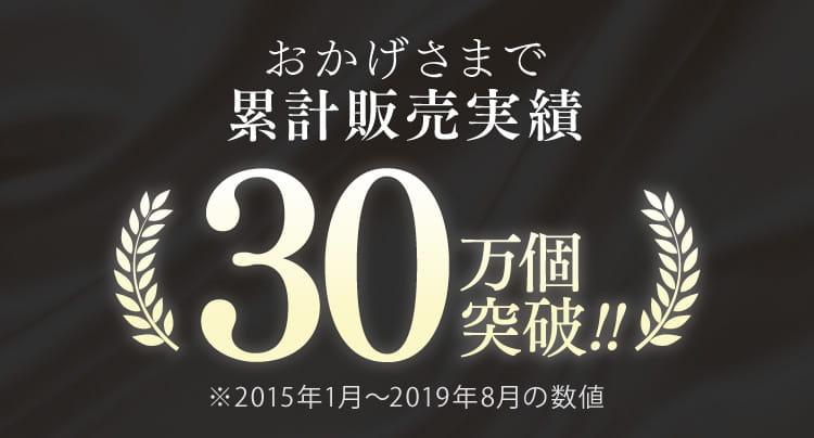 累計販売実績300,000個突破!!!